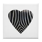 Zebra Print Tile Coaster