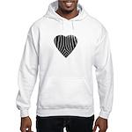 Zebra Print Hooded Sweatshirt