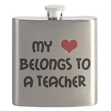 My Heart Belongs to a Teacher Light.png Flask