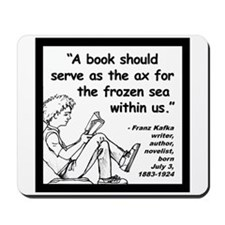 Kafka Book Quote 2 Mousepad