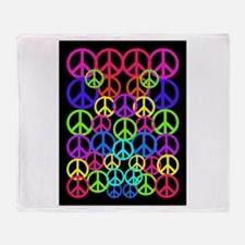 Peace Symbol FF.PNG Throw Blanket