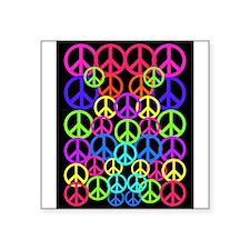 "Peace Symbol FF.PNG Square Sticker 3"" x 3"""