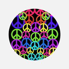 "Peace Symbol FF.PNG 3.5"" Button"
