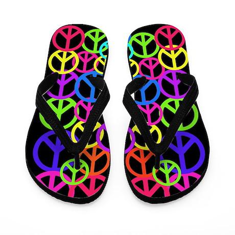 Peace Symbol FF.PNG Flip Flops
