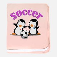 I Like Soccer (3) baby blanket