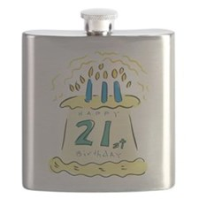 21st birthday cake.png Flask