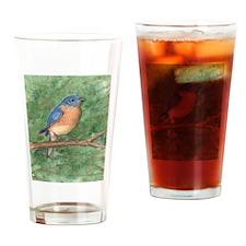 Blue Bird Drinking Glass