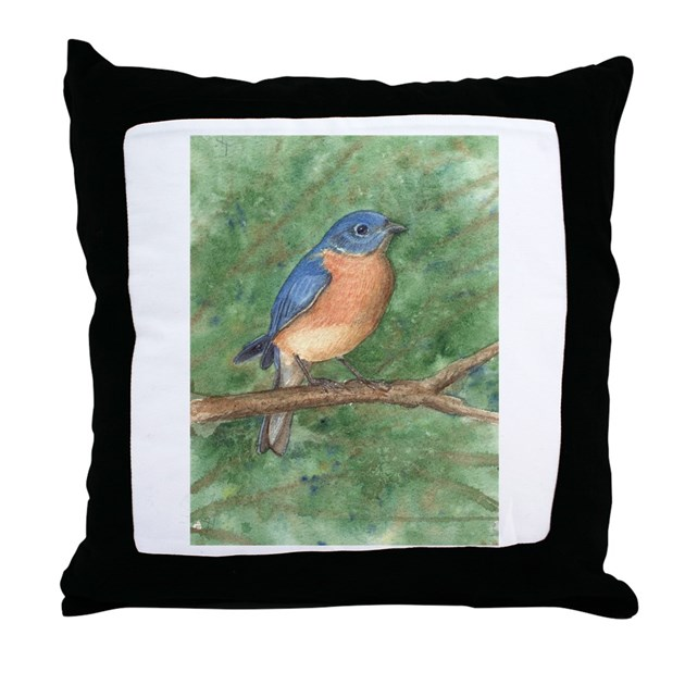 Blue Bird Throw Pillows : Blue Bird Throw Pillow by TracieDesigns