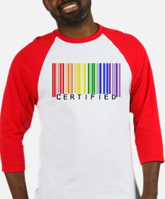 Certified Rainbow Bar Code Baseball Jersey