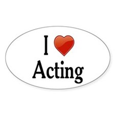 I Love Acting Decal