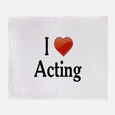 I Love Acting Throw Blanket