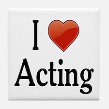 I Love Acting Tile Coaster