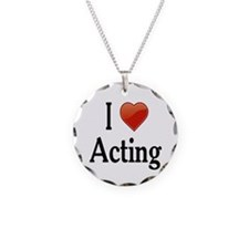 I Love Acting Necklace Circle Charm