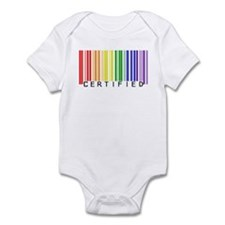 Certified Rainbow Bar Code Infant Creeper