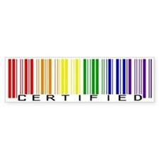 Certified Rainbow Bar Code Bumper Stickers