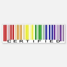 Certified Rainbow Bar Code Bumper Stickers