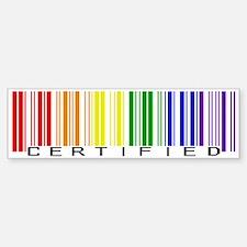 Certified Rainbow Bar Code Car Car Sticker