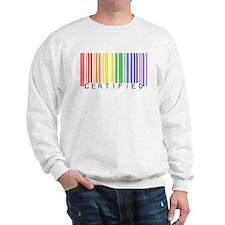 Certified Rainbow Bar Code Sweatshirt