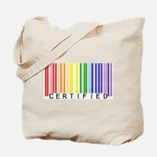 Certified Rainbow Bar Code Tote Bag