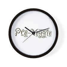 Pro-Veggie Vegetarian Wall Clock