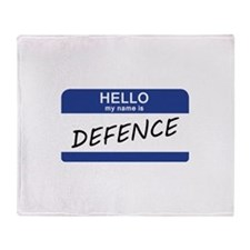 Hello my name is Defence Throw Blanket