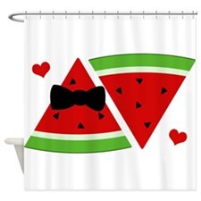 Mr and Mrs Watermelon Shower Curtain