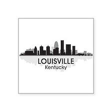 """Louisville Skyline Square Sticker 3"""" x 3"""""""