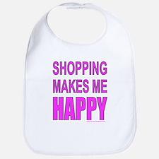 SHOPPING MAKES ME HAPPY Bib