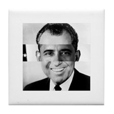 I am Not a Crook! Nixon Obama Tile Coaster