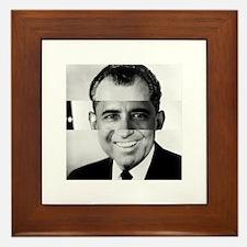I am Not a Crook! Nixon Obama Framed Tile