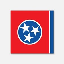 "Tennessee Flag Square Sticker 3"" x 3"""