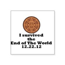 """End of the World Square Sticker 3"""" x 3"""""""