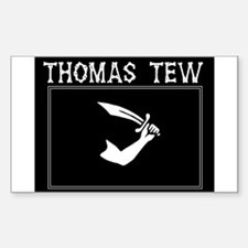 Thomas Tew Pirate Rectangle Decal