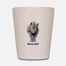 Rhinos Rule! Shot Glass