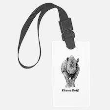 Rhinos Rule! Luggage Tag