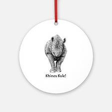 Rhinos Rule! Ornament (Round)