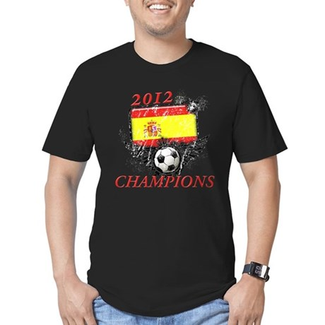 2012 Champions Spain Men's Fitted T-Shirt (dark)