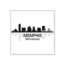 "Memphis Skyline Square Sticker 3"" x 3"""