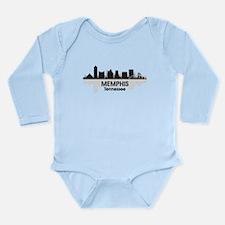 Memphis Skyline Long Sleeve Infant Bodysuit