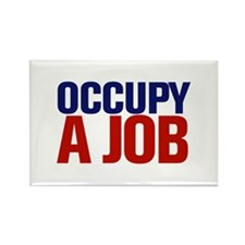 Occupy A Job Rectangle Magnet