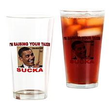 OBAMA TAX.jpg Drinking Glass