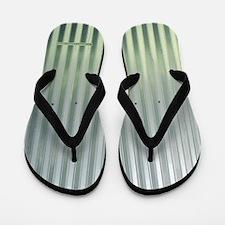 Tin Industrial Chic Metallic Flip Flops