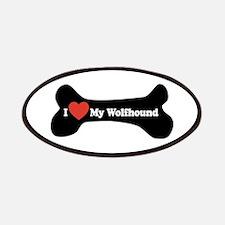 I Love My Wolfhound - Dog Bone Patches