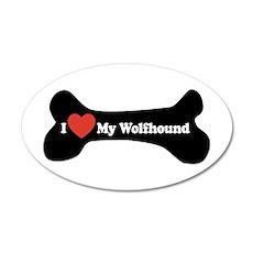 I Love My Wolfhound - Dog Bone Wall Decal