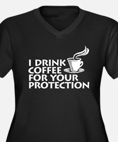 for your protection Women's Plus Size V-Neck Dark