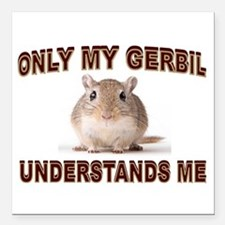 "GERBIL Square Car Magnet 3"" x 3"""