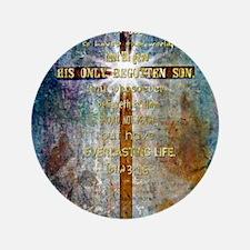 "John 3:16 3.5"" Button"