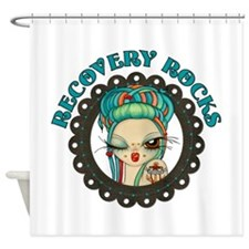 Recovery Rocks~2000x2000.png Shower Curtain