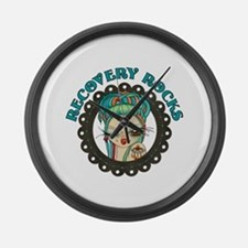 Recovery Rocks~2000x2000.png Large Wall Clock