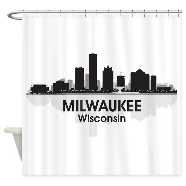 Milwaukee Skyline Shower Curtain By America Tshirts